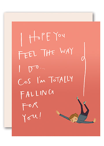 Falling for you - Romantic Greeting Card