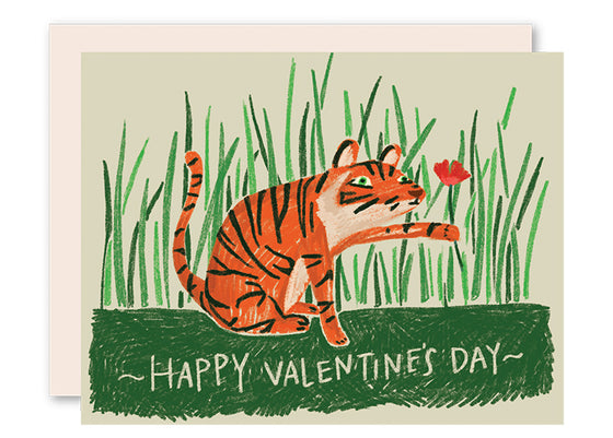 Tiger Valentine's Day Card