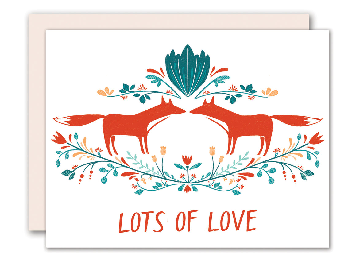 Fox love - anniversary / love/ valentine card