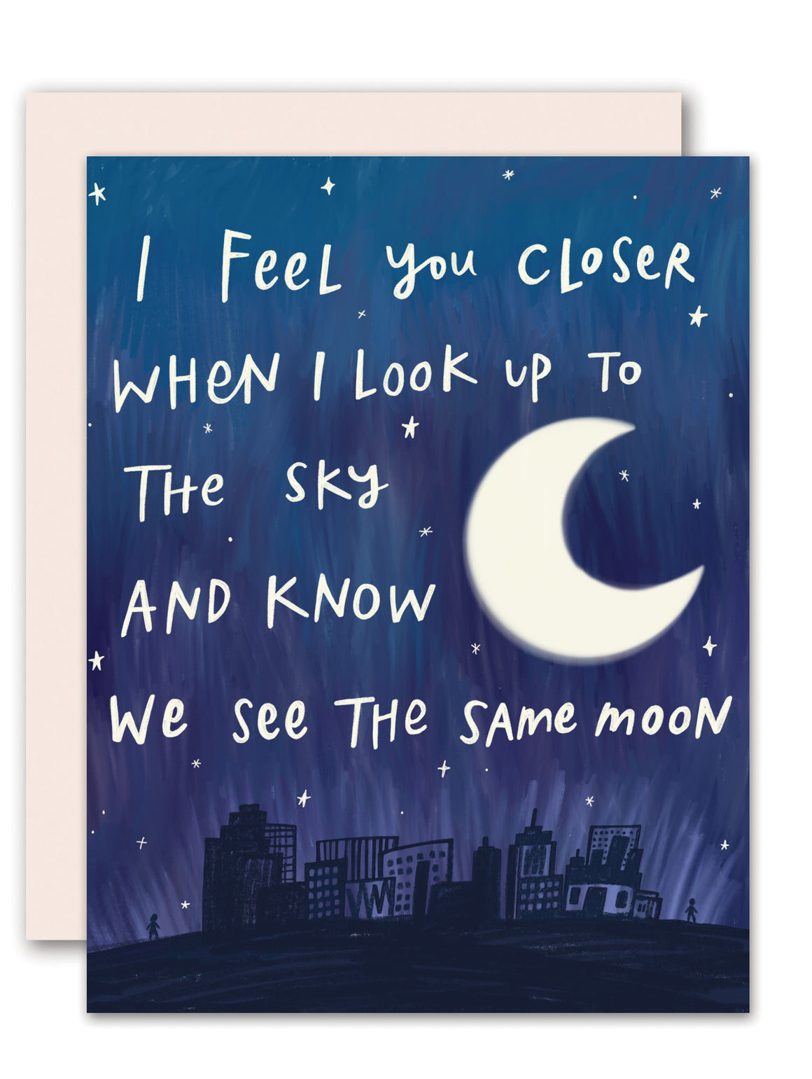 Same Moon - miss you /  Long distance love card