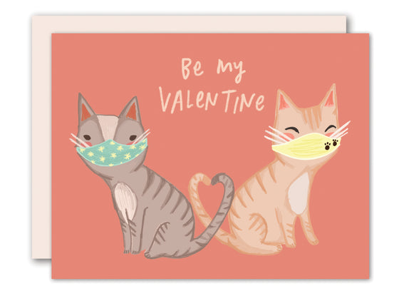 COVID love cats - Valentine card