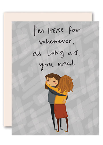 As long as you need sympathy card