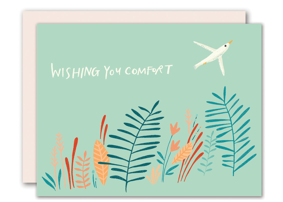 Wishing you comfort - Sympathy Card