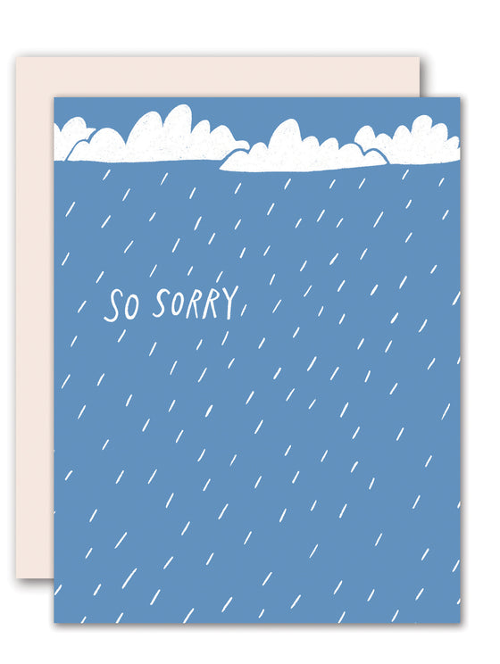 So Sorry, Rain - Sympathy Card
