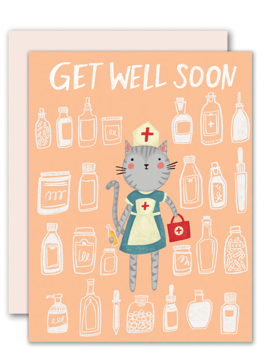 Get Well Cat Nurse