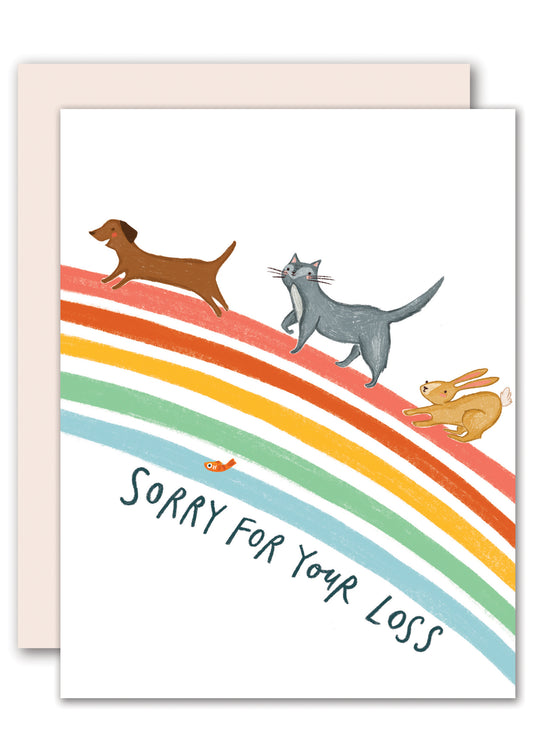 Rainbow Bridge - Pet Sympathy Card
