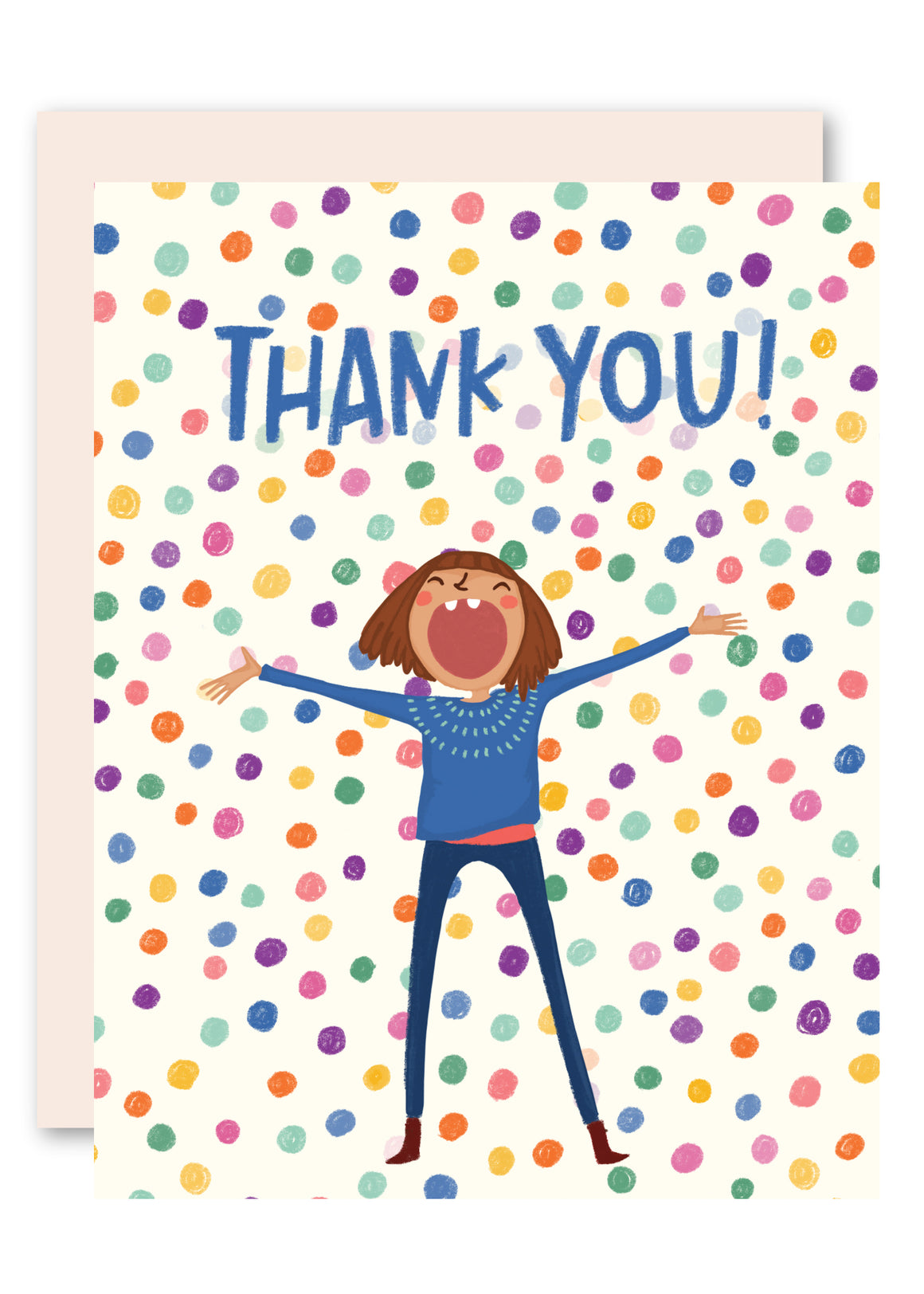 Colored Balls Thank You Card