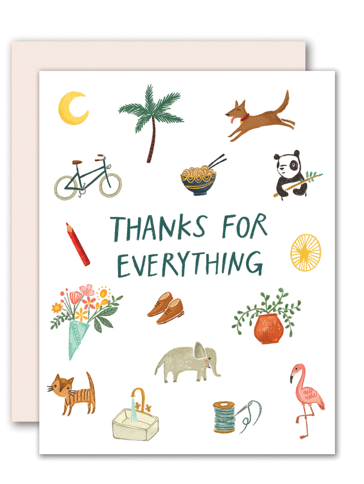 Thanks for everything! - Thank you card