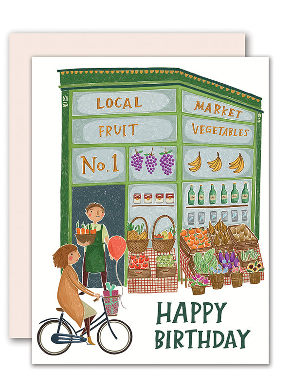 Local Market Birthday Card