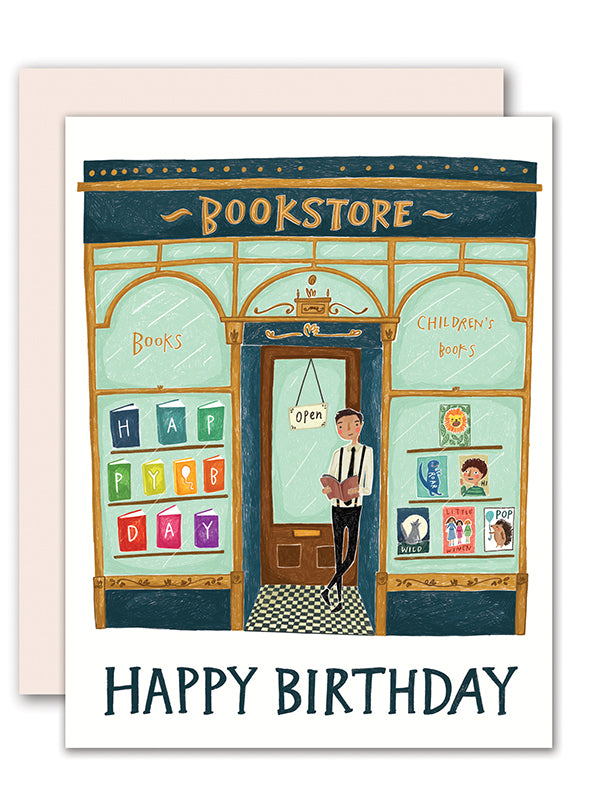 Bookstore Birthday Card