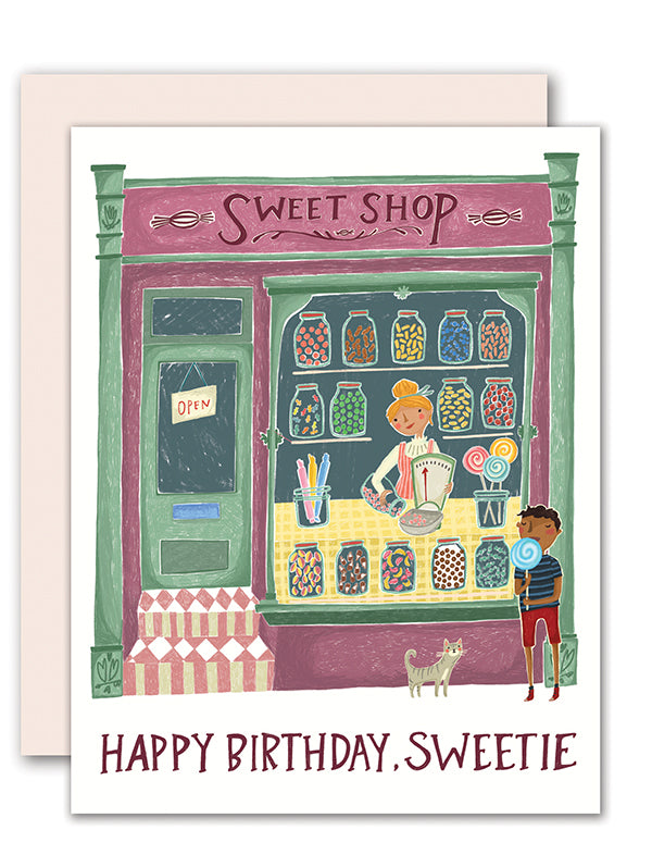 Sweet Shop Birthday Card