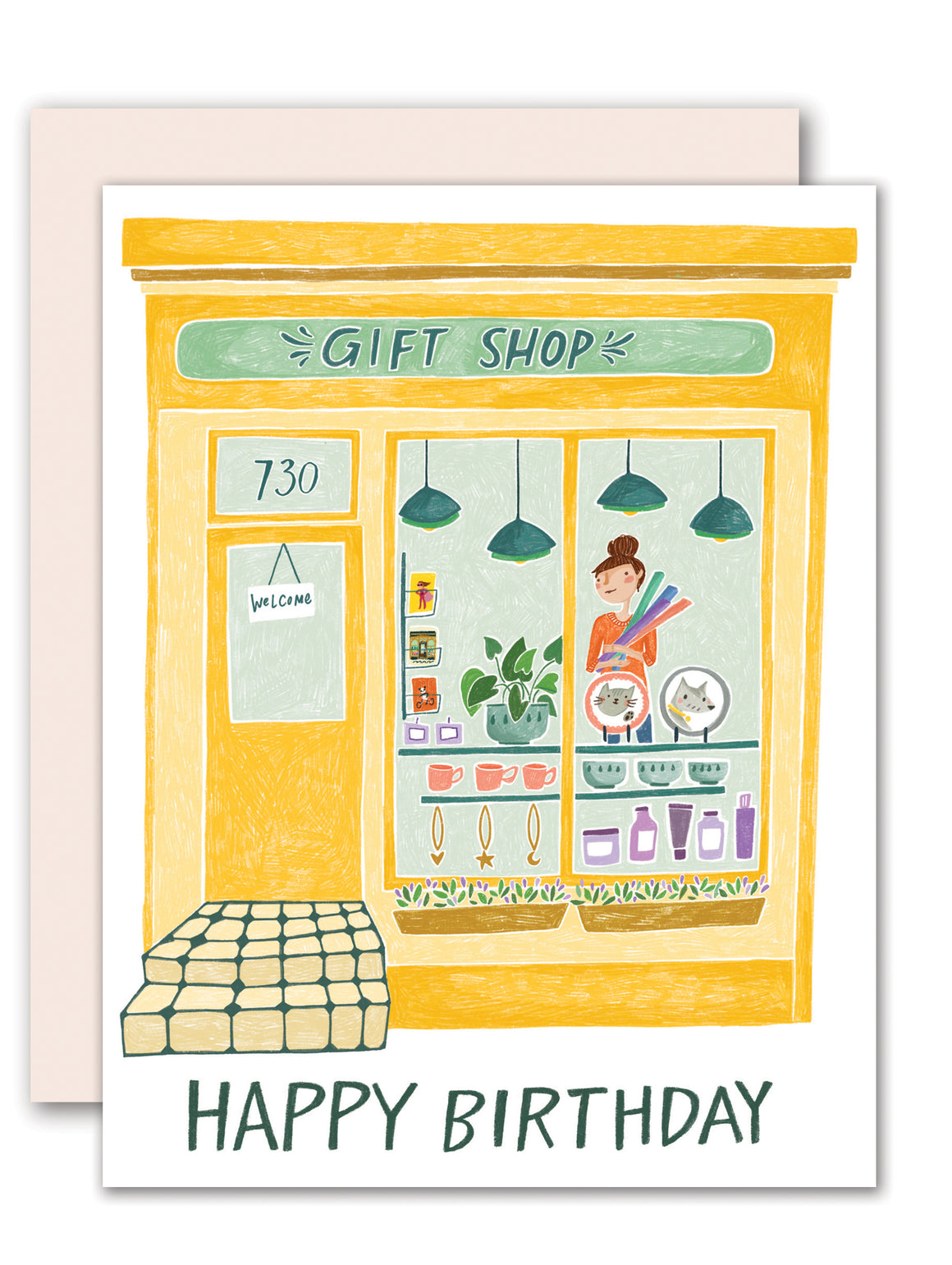Small Shop Gift Shop Greeting Card