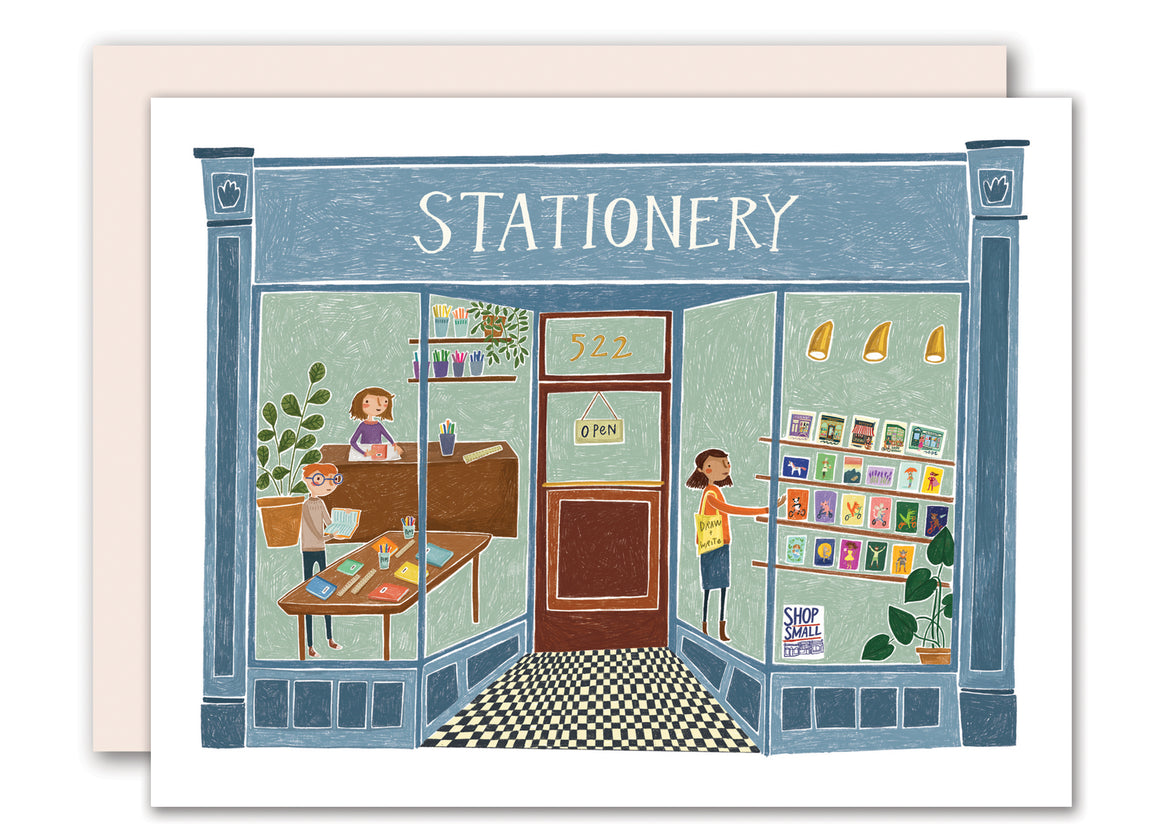 Stationery Shop Greeting Card