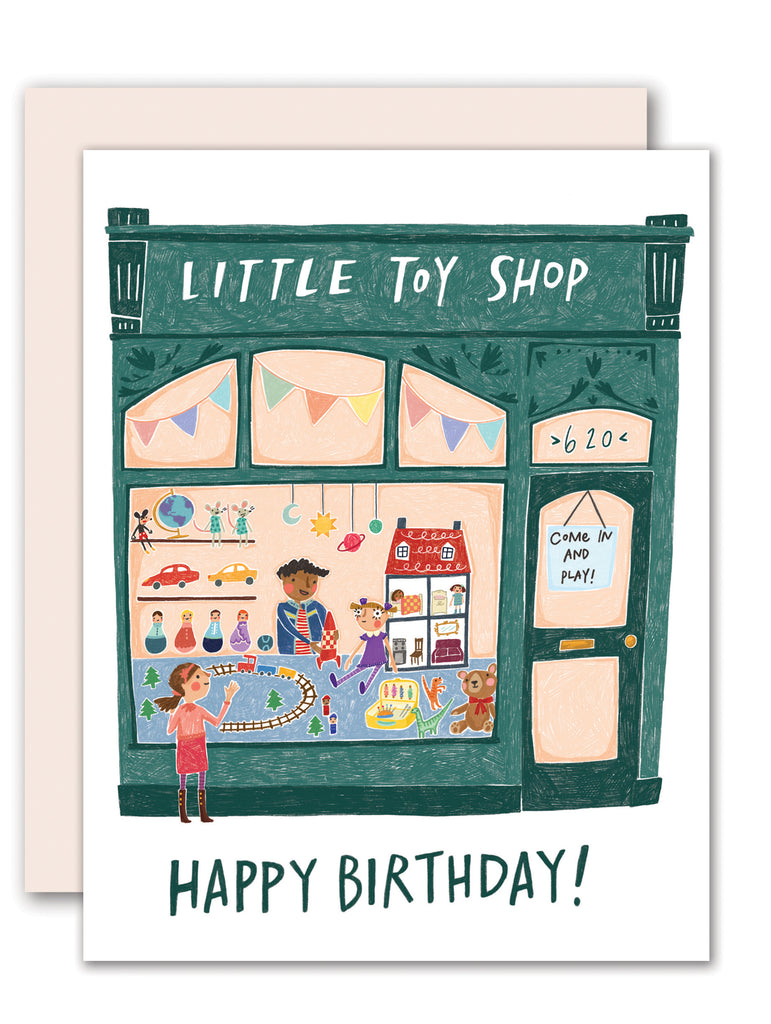 Toy Shop Birthday Card