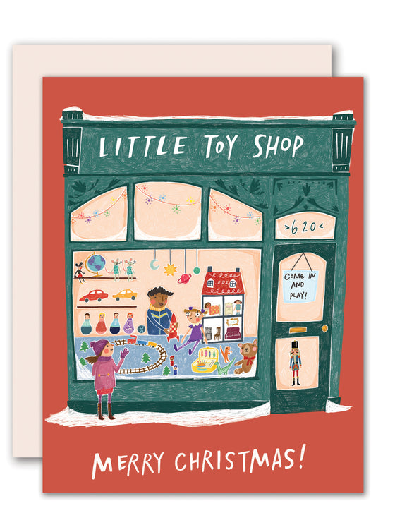 Small Shop Toy Shop Christmas Card