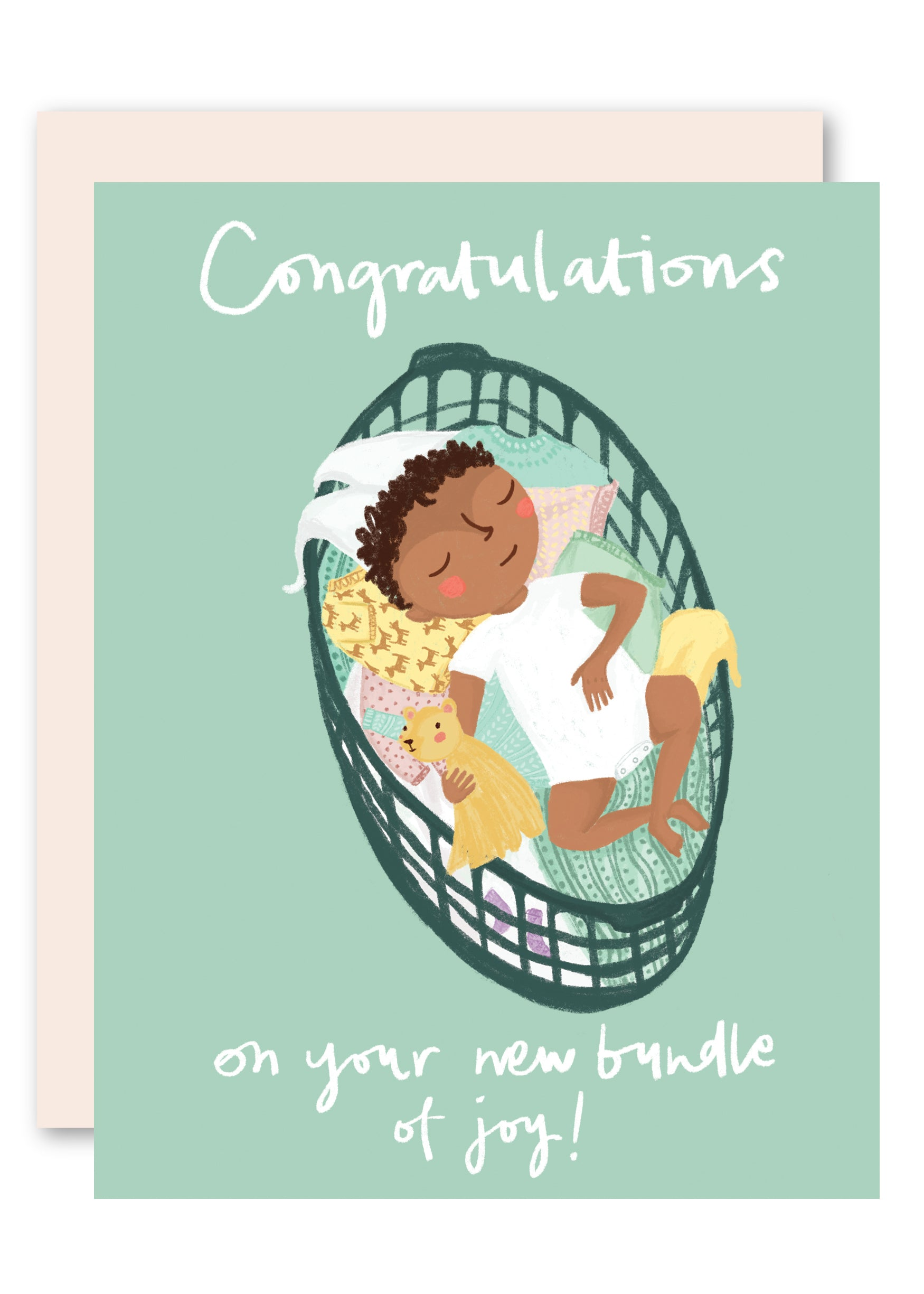 basket baby congratulations card by pencil joy