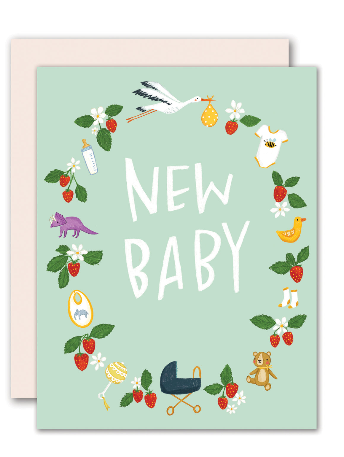 Baby Wreath -  New Baby greeting card