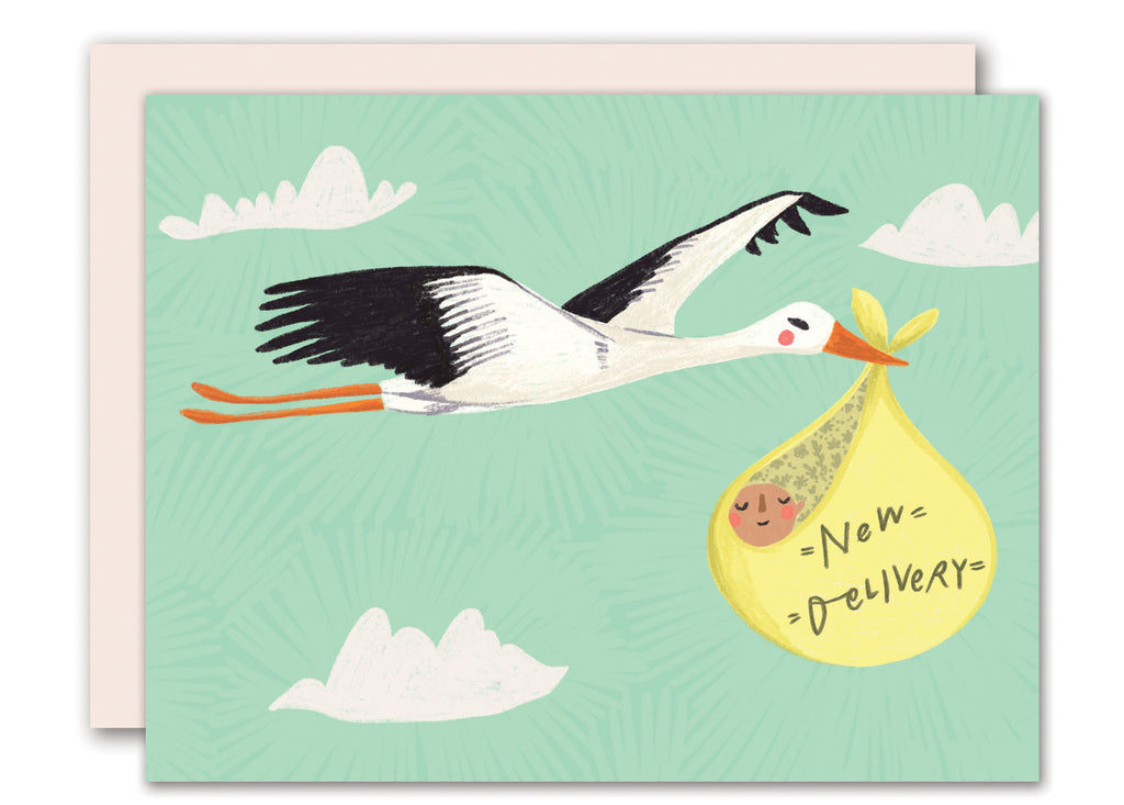 Stork - new baby card