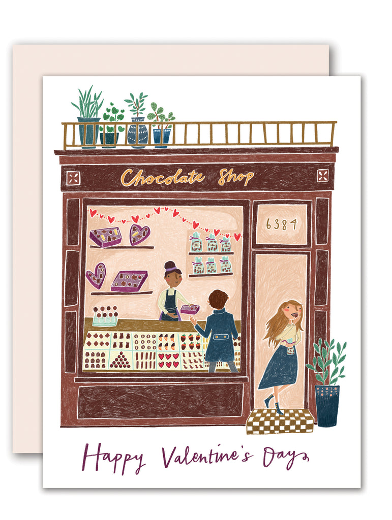 Chocolate Shop Valentine Card