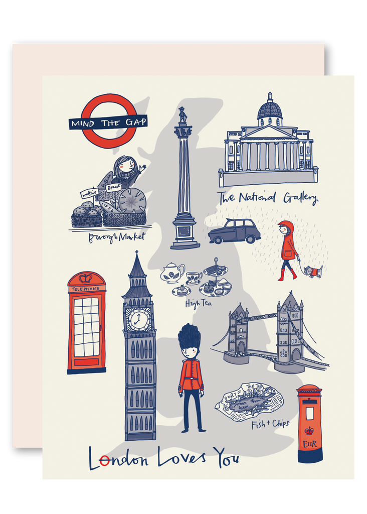 London Loves You Greeting Card