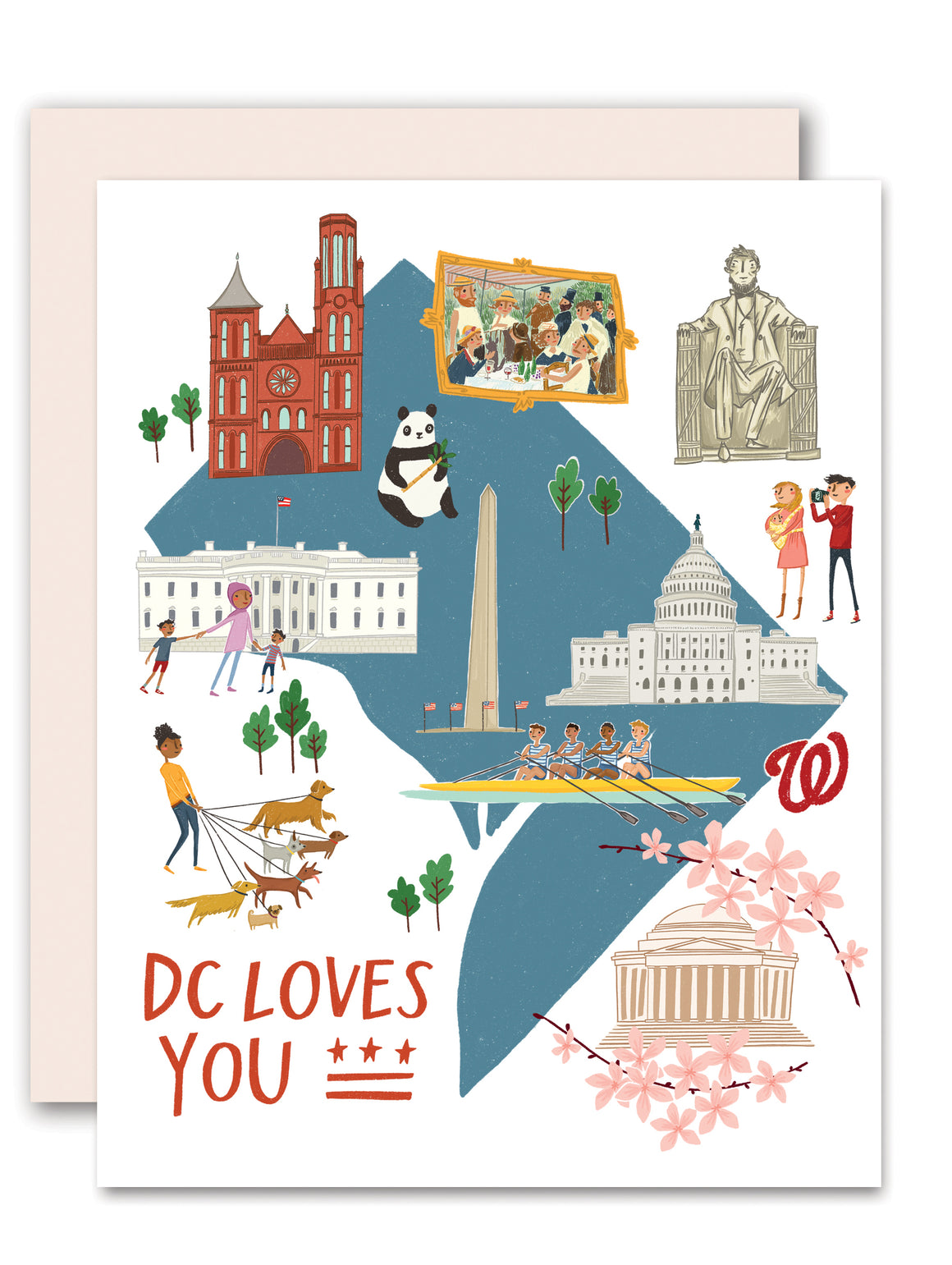 DC Loves You Greeting Card