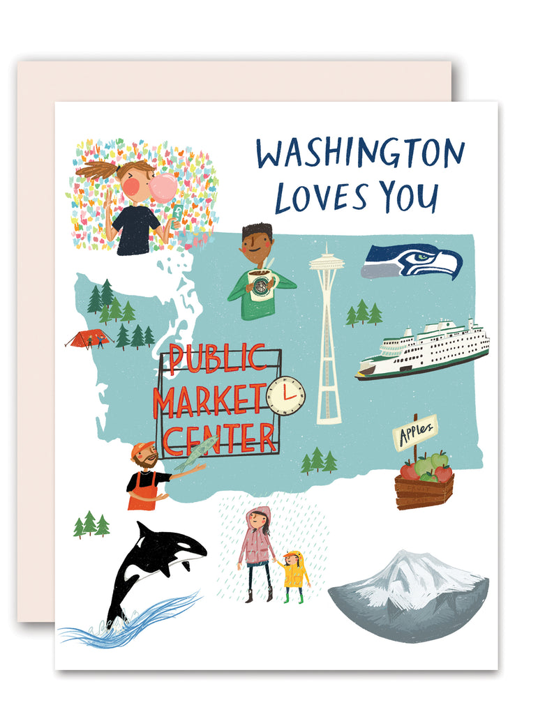 Washington Loves You Greeting Card