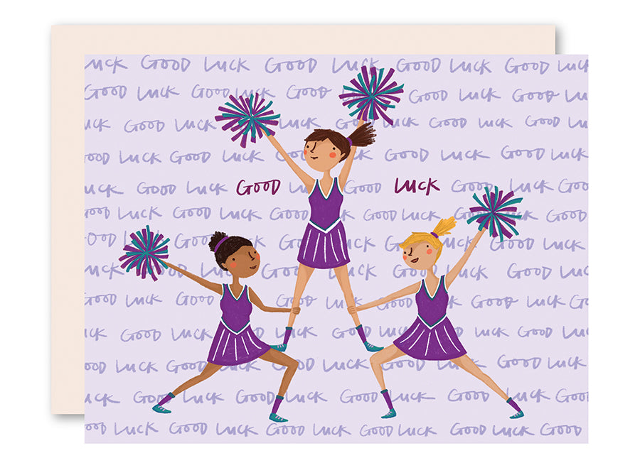 Cheerleaders Good Luck Card