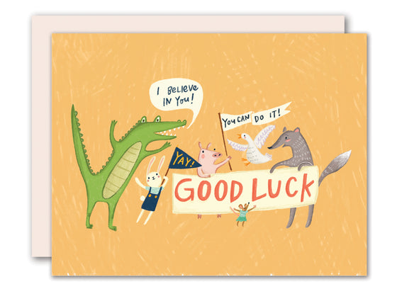 Good Luck Animals Card