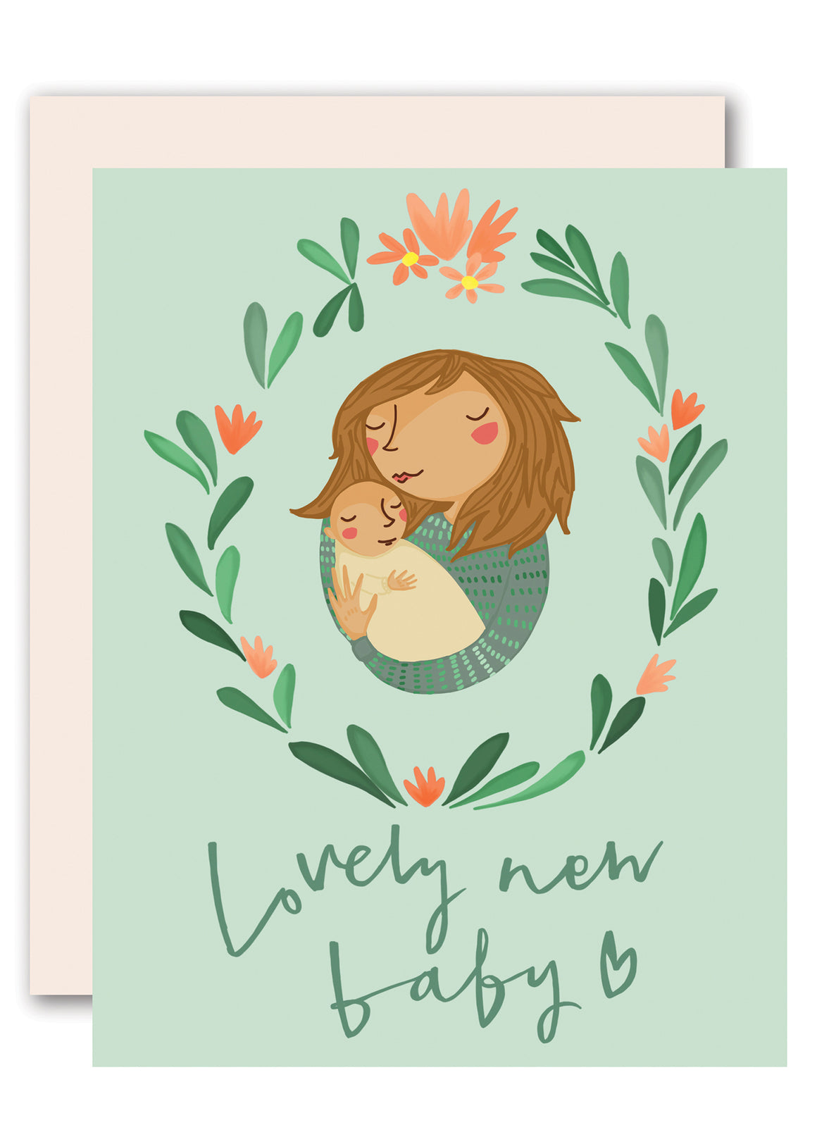 A Lovely New Baby greeting card