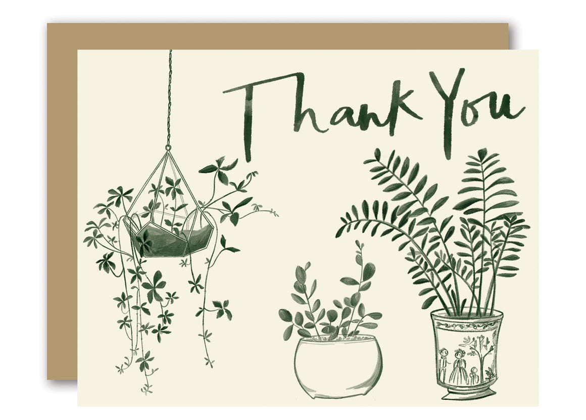 House Plants Thank You Card