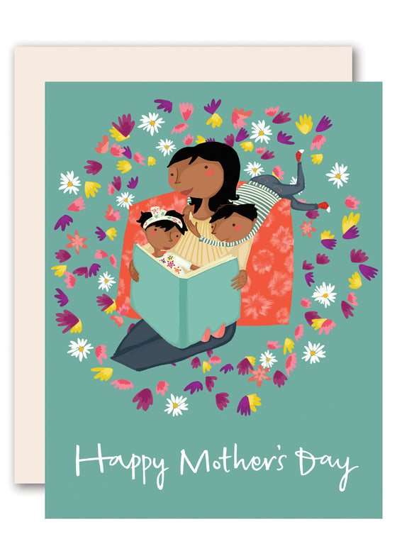 Reading Together Happy Mother's Day Card