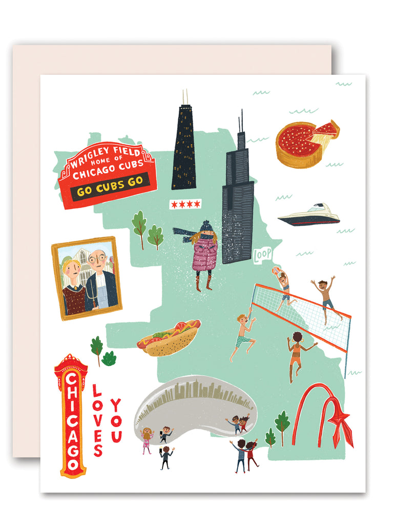 Chicago Loves You Greeting Card