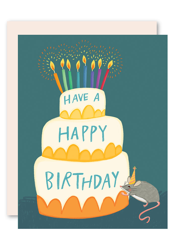 Of mouse and cake birthday card