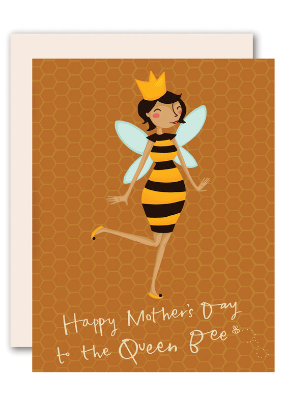 Queen Bee Happy Mother's Day Card