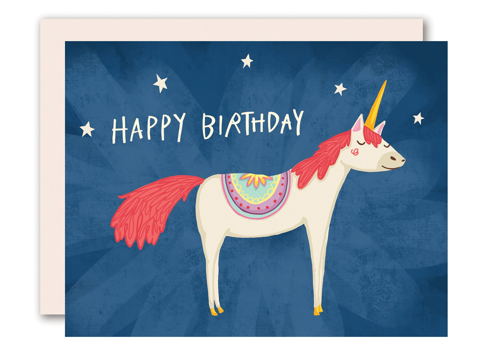 Unicorn happy birthday card for men women and children by pencil joy unicorn happy birthday card bookmarktalkfo Image collections