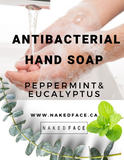 Liquid hand soap wash antibacterial_ fresh clean peppermint eucalyptus aromatic essential oil