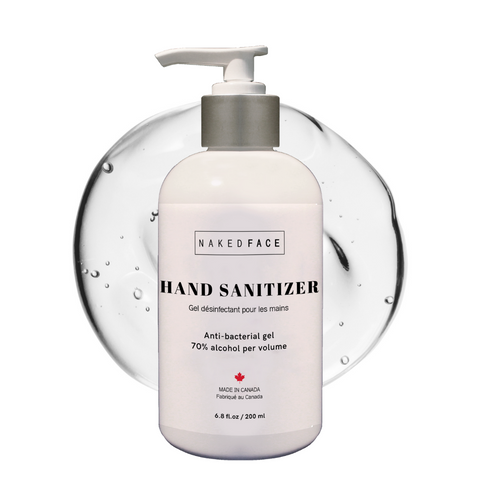 Effective alcohol-based antibacterial hand sanitizer gel contains Health Canada recommended percentage of alcohol for effective hand sanitation.