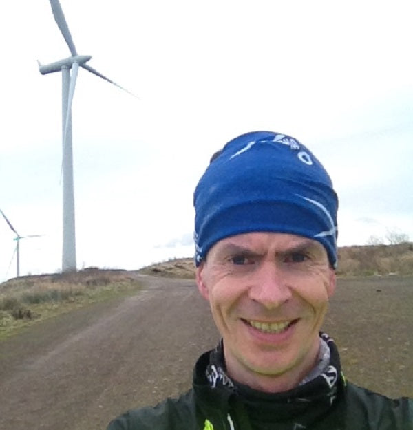 Running at wind farm