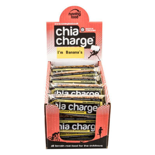 Chia Charge Flapjack - Banana - 80g - Box of 20