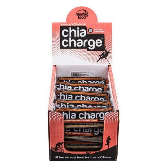 Chia Charge Flapjack - Salted Caramel - 80g - Box of 20