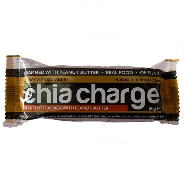 Chia Charge Flapjack - Peanut Butter - 50g