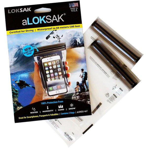 aLOKSAK re-sealable, flexible storage bag