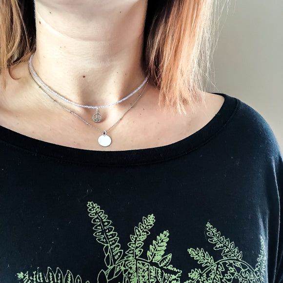 Plain Disk Necklace