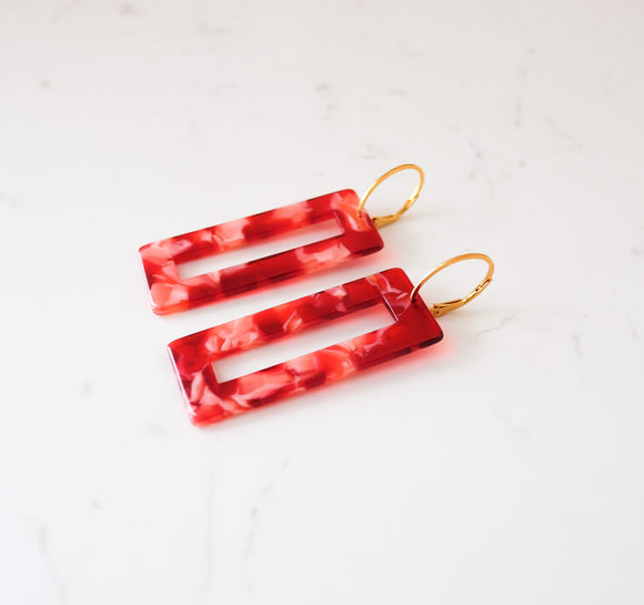 OOAK - Bold Statement Earring [RED]