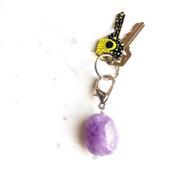 Amethyst Gemstone Key chain