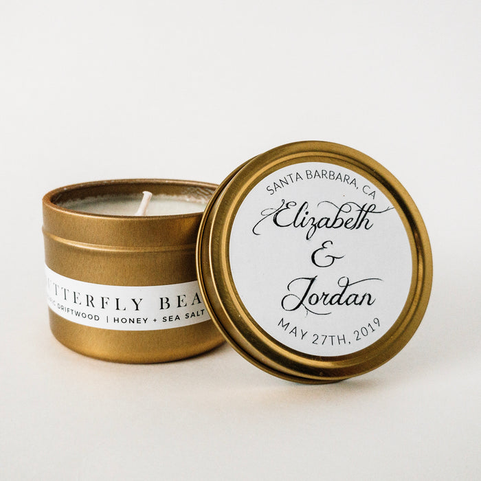 Case of 20 Hand-lettered Love Custom Candles