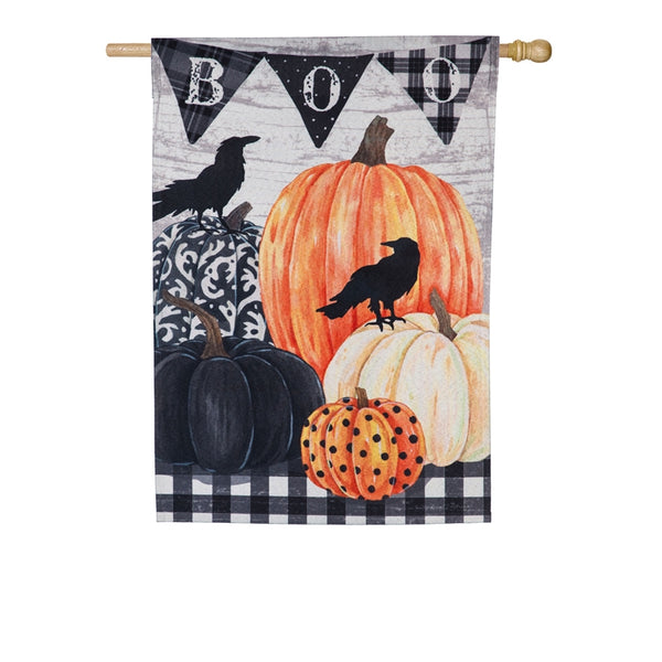 Pumpkins and Crows House Flag