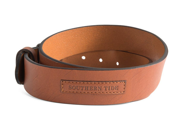 Southern Tide Men's Leather Patch Belt