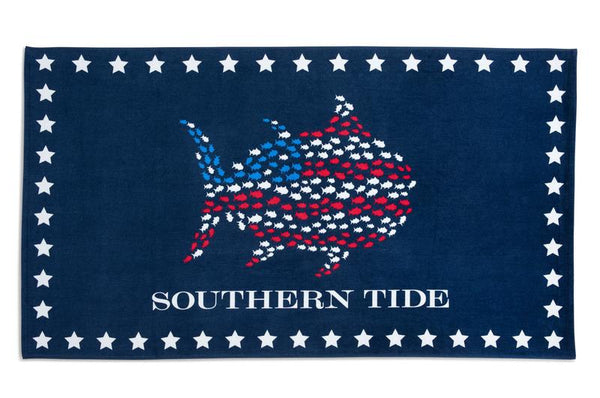 Skipjack & Stars Beach Towel by Southern Tide