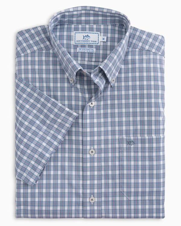 Southern Tide Short Sleeve Friars Bay Plaid Intercoastal Sport Shirt
